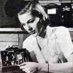 Lady Assembling Similar RCA Radio