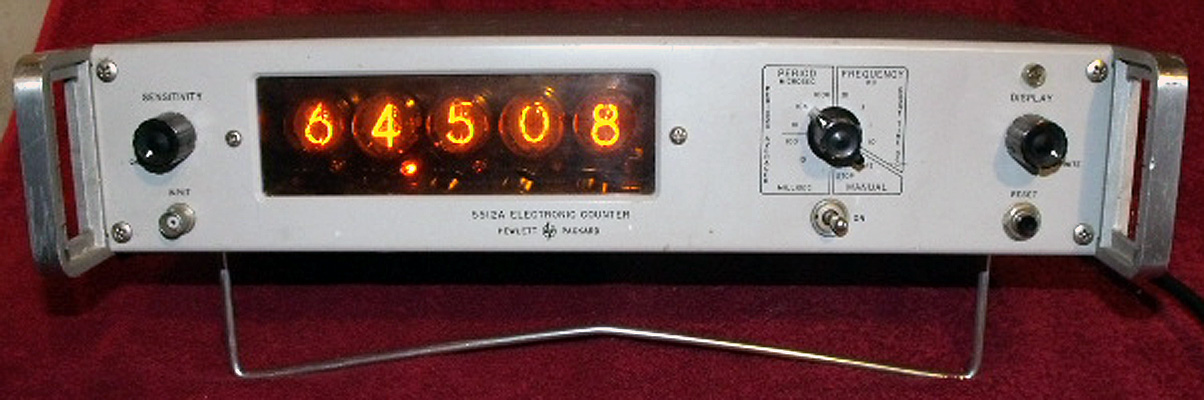 Hp Frequency Counter : Hp a frequency counter