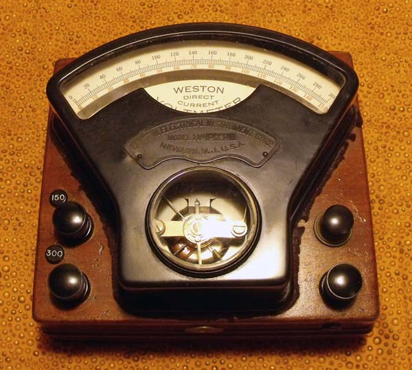 Old Ge Test Instruments : Weston volt dc dual range voltmeter