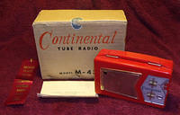 1950s Continental Model M-431 Portable Tube Radio Grouping